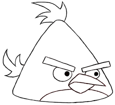 Angry birds coloring pages chuck yellow bird - ColoringStar