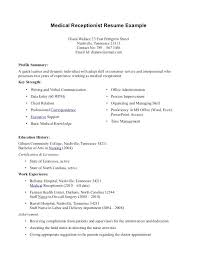 Cover Letter Receptionist Examples Ideas Of Examples Cover Letters