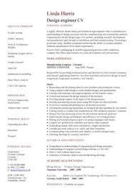 Cv Samples For Engineering Students Engineering Cv Template Engineer Manufacturing Resume Industry
