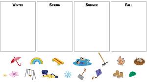 Four Seasons Worksheets For Kindergarten - Checks Worksheet