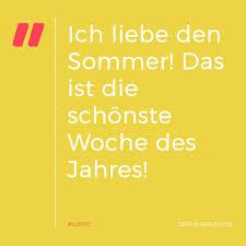 Ich Liebe Den Sommer Das Ist Die Schönste Woche Des Jahres