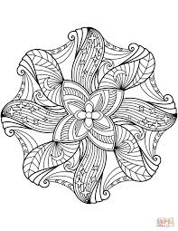 Flower Mandala Coloring Page Free Printable Coloring Pages Body