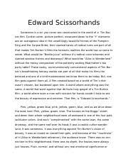 paper on edward scissorhands most fairytale movies end  5 pages edward scissorhands isabella hicks