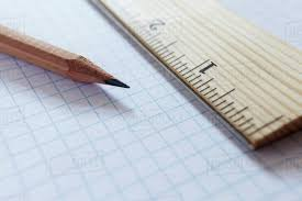 Ruler And Pencil On Graph Paper Studio Shot D1028_7_521