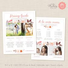 Photography Pricing Template Photographers Price List Template Floral Photography Pricing Etsy