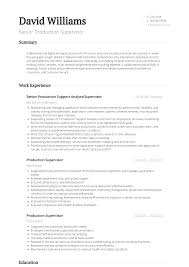 Production Supervisor Resume Sample The Best Template