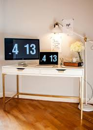 the midas touch desk a standard white ikea desk was transformed using gold