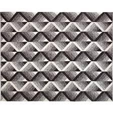 vertigo black and white indoor outdoor rug