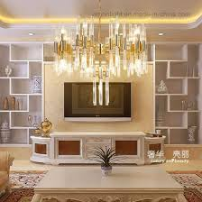 modern golden luxury crystal chandelier empire suspension golden large lighting