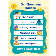 Classroom Routine Chart English Classroom Daily Routine Task Training Regular Poster A4 Big Flash Cards Early Educational Toys For Children Kids Gifts