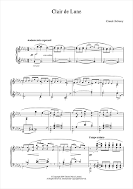 Clair De Lune From Suite Bergamasque Sheet Music By Claude Debussy