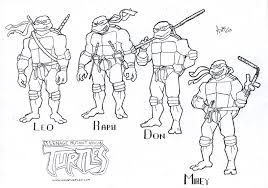 Small Picture Ninja Turtles Coloring Pages for Kids on We Heart It