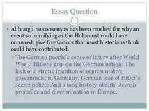 holocaust essay questions essays on a doll s house by henrik holocaust essays and papers