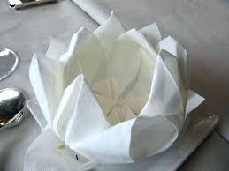 Paper Napkin Folding Flower Lotus Napkin Fold