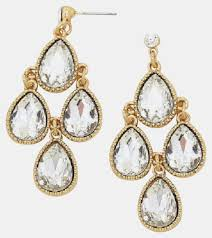 swarovski crystal chandelier earrings clear crystals
