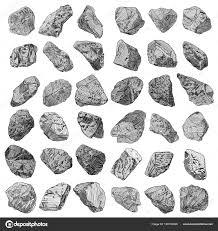 камни рукой набор рисованные эскизы камни и скалы в рисунок шляпа