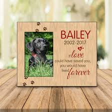 photo frame pet memorial wood grain if love could have saved you