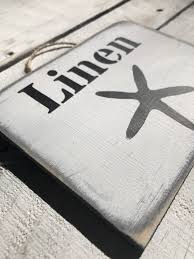 linen sign laundry sign wooden beach decor laundry decor shabby chic signs