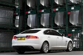 2012 Polaris White Jaguar XF Rear View