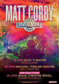 we are excited to add a christchurch show to the nz run of the rainbow valley tour on april 21st at the isaac theatre royal