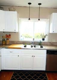 pendant light above kitchen sink combined crystal for island clear glass