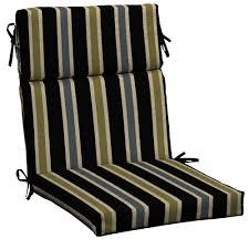 black ribbon stripe outdoor dining chair cushion black patio chair cushions