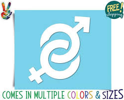 Gender Symbols Chart Male And Female Gender Symbol Decal Mars And Venus Symbols Bumper Sticker Tumbler Laptop