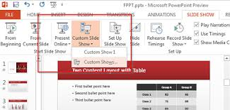 How to create custom slide show with PowerPoint             Indezine Screenshot of PowerPoint      Slide Master view