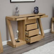 console table with drawers – smart solution for storing stuff