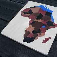 africa wooden puzzle