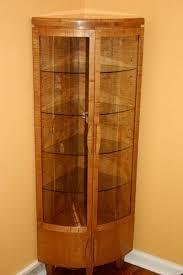 Corner Kitchen Curio Cabinet Handmade Corner Curio Cabinet By Whim Wood Custom Furniture