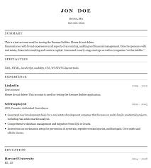 Resume Template Docs