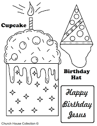 Small Picture Happy Birthday Jesus Coloring Page esonme