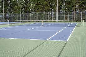 polypropylene sports flooring for outdoor use for tennis courts