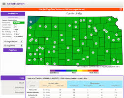 Cold Index Chart Kansas Mesonet Launches Cattle Comfort Index Dairy Herd