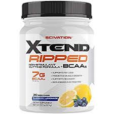 scivation xtend ripped bcaa powder branched chain amino acids bcaas blueberry lemonade 30 serving