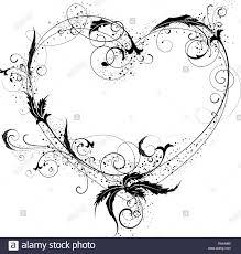 Beautiful Heart Design Flowers Heart Ornamental Beautiful And Heart Design Element