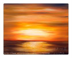 golden sunset oil painting ocean wave abstract seascape oil painting seaside on canvas hight quality hand
