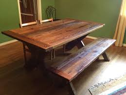 reclaimed barnwood dining table cross leg traditional in barn wood room inspirations 3