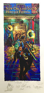 2016 official jazz heritage festival poster