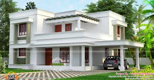 Small Picture Simple but beautiful flat roof house Kerala home design and