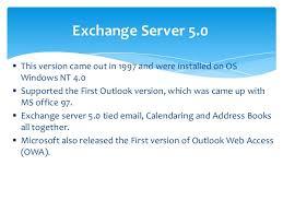 Overview Of Microsoft Exchange Server