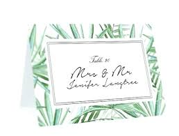 Template For Place Cards Free Christmas Place Card Template Word Escort Cards Editable Ms Tropical