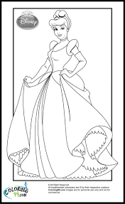 Cinderella Princess Coloring Pages For Kids