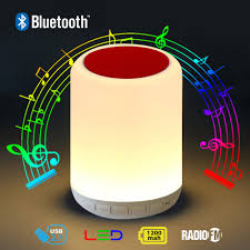 Led Touch Lamp Light Bluetooth Speaker Red