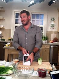 cooking chef curtis stone on facebook the martha stewart blog curtis starts to make his shaved fennel salad pickled onions and sea beans the mandolin is among his favorite kitchen tools this one is from the