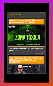 News Free Fire - Latest FF News para Android - APK Baixar