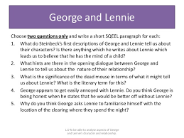 of mice and men literature exam 33 george and lennie