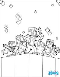 Explore The World Coloring Page From Minecraft Video Game More