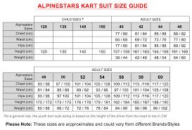 Omp Kart Suit Size Chart Size Charts Mk Racewear